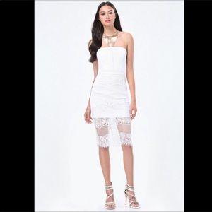 Bebe strapless dress 🌹